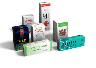 Производство картонной упаковки для лекарств и биодобавок,  на чаи - Полиграфия, издательские услуги