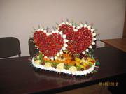 Праздничные фруктово-конфетные композиции